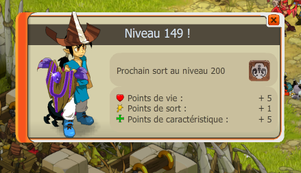 Niveau 149 !