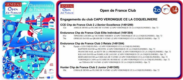La Coco aux championnats de France 2014 !