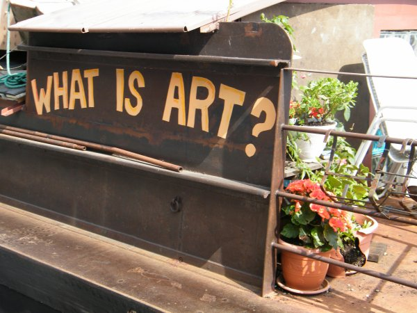 """WHY NOT (F) Nancy  """"WHAT IS ART""""   PLAQUET 1955 (B)"""