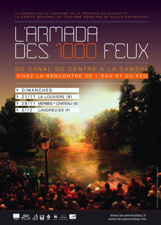 Du 17 novembre au 5 décembre, l'ARMADA DES 1000 FEUX fait escale sur le Canal du Centre et sur la Sambre...
