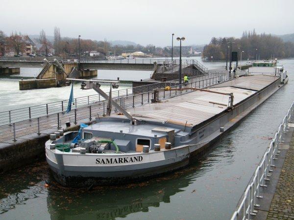 SAMARKAND (B) Marchienne - GT.1265 - 80,00 m. 8,20 m. de retour de Givet (F) avec 1000t. d'orge à destination de Roermond (NL)