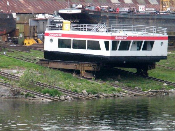 La capitainerie a fait peau neuve avant de rejoindre son port namurois...