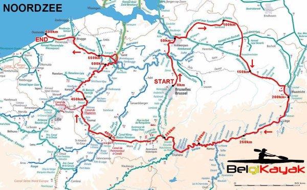 BelgiKayak - Le tour de la Belgique en kayak (600km)