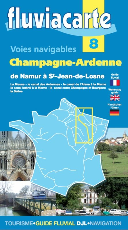 """La nouvelle édition du carto-guide fluvial """"Champagne – Ardenne"""" - FLUVIACARTE 8 - sera disponible dès le 15 juillet."""