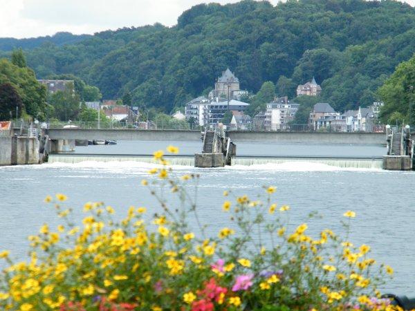 Namur, porte d'entrée de la Haute Meuse et sa merveilleuse vallée....Ange Gabriel (B), La Belle Rosselle (B), Maskot (NL), Rio Grande (NL), parmi d'autres qui profitent pour un jour, une saison ou l'année de cet exceptionnel environnement...