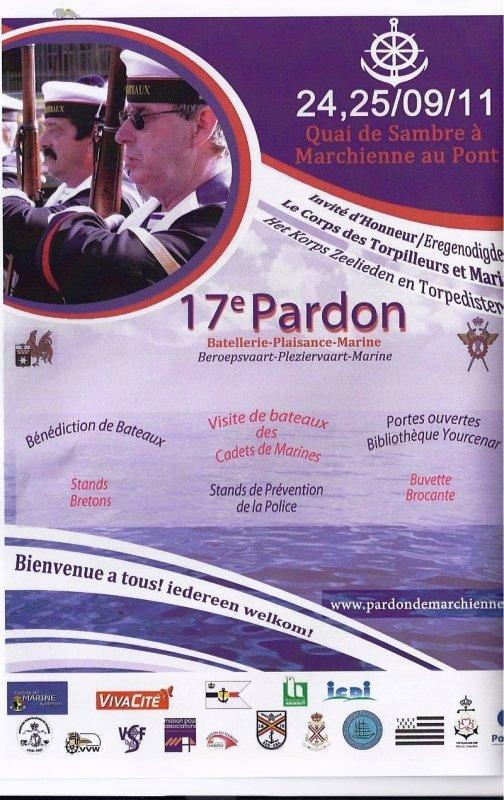 17e Pardon de Marchienne  & Info sur l'ICC, le certificat international de conducteur de bateau de plaisance