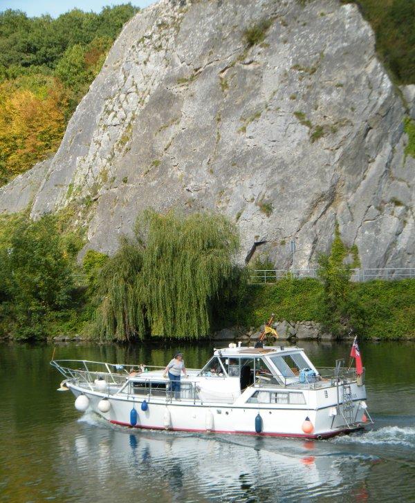 Balade sur le Ravel 2 entre Namur (La Plante) bk 45 et Anhée bk 27