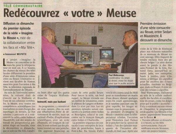 """IMAGES 'IN LA MEUSE   """"MATélé"""" & """"FAC Télévision""""-  source L'Avenir 08/10/2011 - Lavenir.net"""