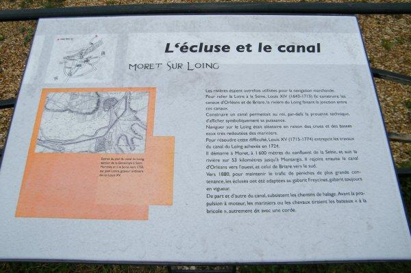 MORET-SUR-LOING, le canal et l'écluse.