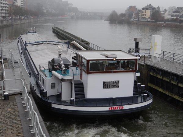 NOMADE (NL) 1171 t. de charbon de Rotterdam à Givet, FATIMA II (NL) 1000t. de colza de Givet à Spijk (NL)