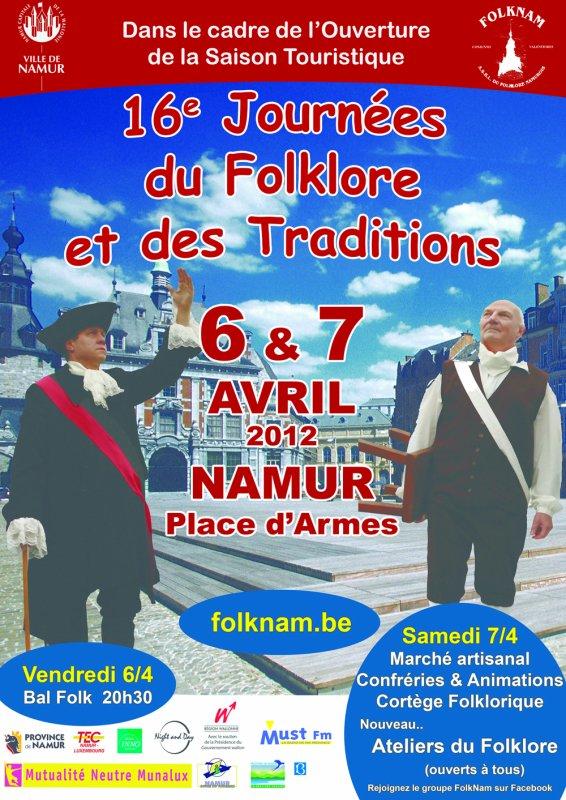NAMUR - Place d'Armes - 16è. Journée du Folklore et des Traditions, les 6 et 7 avril 2012  - FOLKNAM