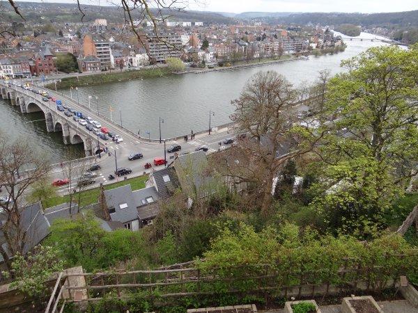 Namur - l'entrée de la Haute Meuse depuis la route Merveilleuse...