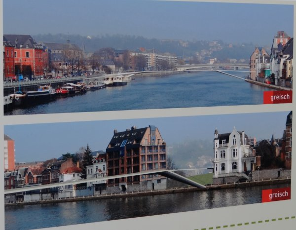 NAMUR et ses projets à venir.... Passerelle sur la Meuse - Liaison Jambes-Namur