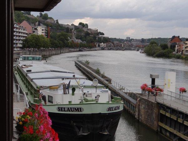 A l'initiative de l'asbl Contrat de Rivière Haute-Meuse, une cinquantaine de panneaux sont placés sur les bords de la Meuse namuroise pour sensibiliser le public à l'interdiction de nourrissage des oiseaux d'eau. TOURISTE I (B) & SELAUMI (B) parmi les 17 bateaux du jour...