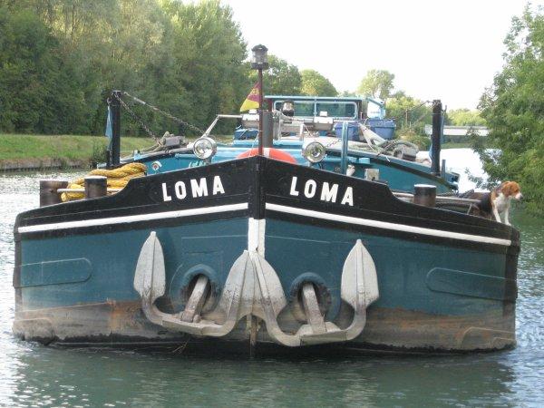 Voyage du LOMA  - 08/2012  - Canal latéral à la Marne - Chalons en champagne.