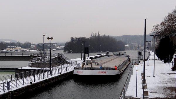 SERENA (B) - GT.1628 - 85,00 m. 9,55 m. 2,70 m. (1970- ex.VAKENA) - chargé de 1200t. de céréale à destination de l'Allemagne.
