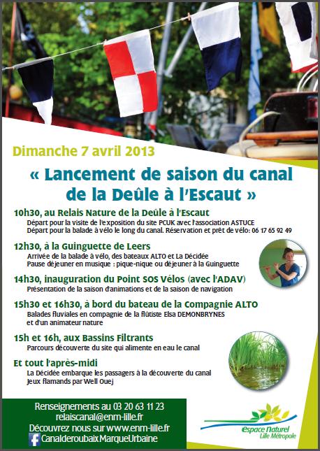 La saison 2013 >  Lancement de saison du canal de la Deûle à l'Escaut, ce 7 avril 2013 -  ... et le CANAL DE L'ESPIERRES,  vu par Yvan Gérondal (Bel-Ami)
