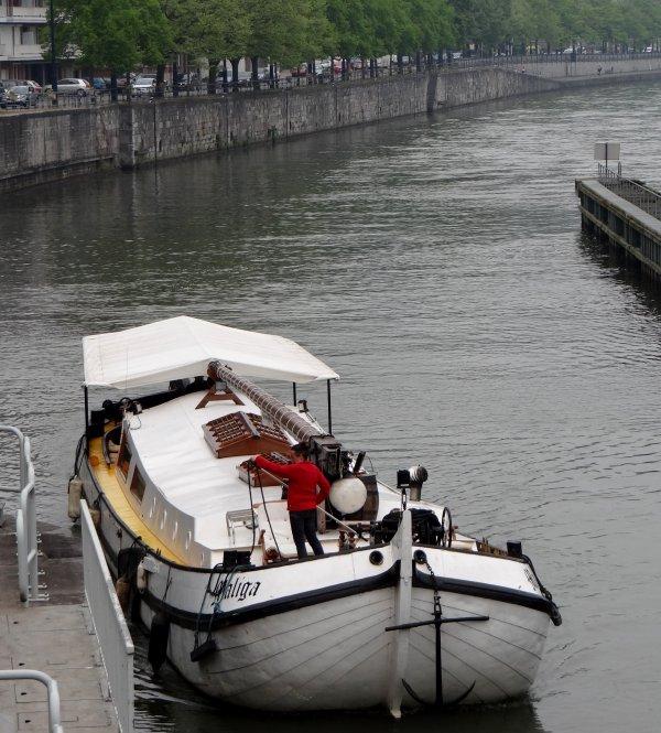 Echantillon des passages du 7 mai 2013 ... INTERNOS, GIM, POSEIDON, DEAVANOS, MEUSE-ARDENNES, WOFRARI, KALUGY, MALIGA, LE SAX parmi les 28 bateaux du jour.