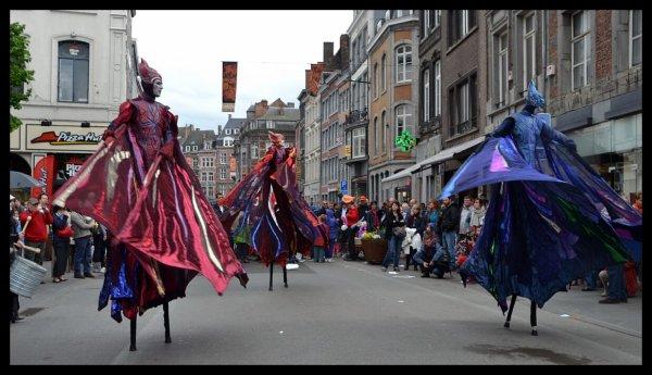"""Le """"bia-bouquet"""" de Christian, aux couleurs de Namur en mai  ;)"""