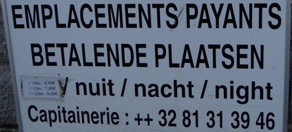 PORT DE PLAISANCE DE NAMUR (Jambes) - SERVICE CARBURANT - BRANDSTOF - FUEL SERVICE