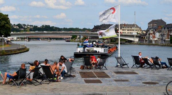 """La quotidienne estivale """"Namur-Wépion-Namur"""" sur le MEUSE-ARDENNES avec Lim & Albert  ;)"""