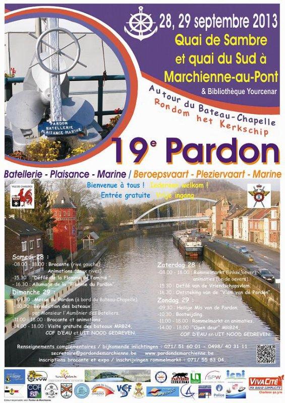 C'est au tour du CARPE DIEM pour la promo...  &   19è. Pardon Batellerie-Plaisance-Marine à Marchienne les 28 et 29 septembre 2013