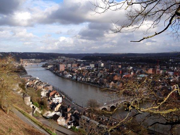 """La Meuse namuroise du haut de la citadelle & le """"bia-bouquet"""" hebdo de Christian  ;)"""