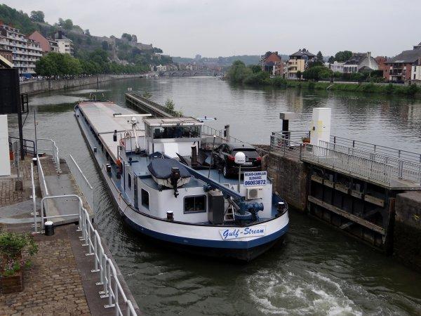 Gulf Stream en 1ère. avec un transport de 1050t. d'orge entre Givet (F) et Zwijndrecht (NL) - Les bernaches du Canada sont à nouveau envahissantes!   :(