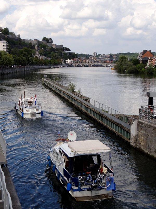 DIDAS, BALOE, WEDOENUT & Le JUPILER, parmi les plaisanciers de retour de la belle vallée, ce 7 août 2014...