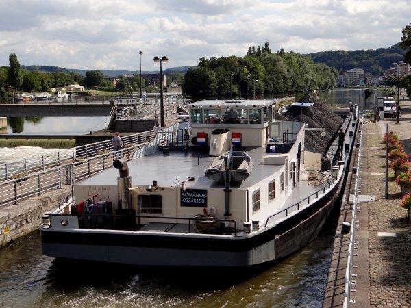 Le relevé des passages de bateaux à LA PLANTE pour le mois d'août, comparaison entre 2001 à 2014 ...