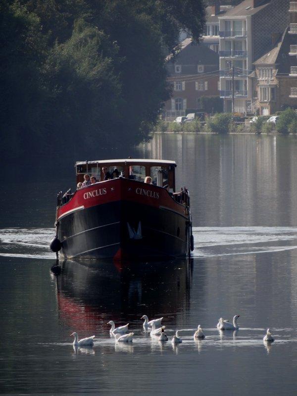 La Meuse namuroise sous surveillance....  -  Le CINCLUS quitte la Haute-Meuse  ;)