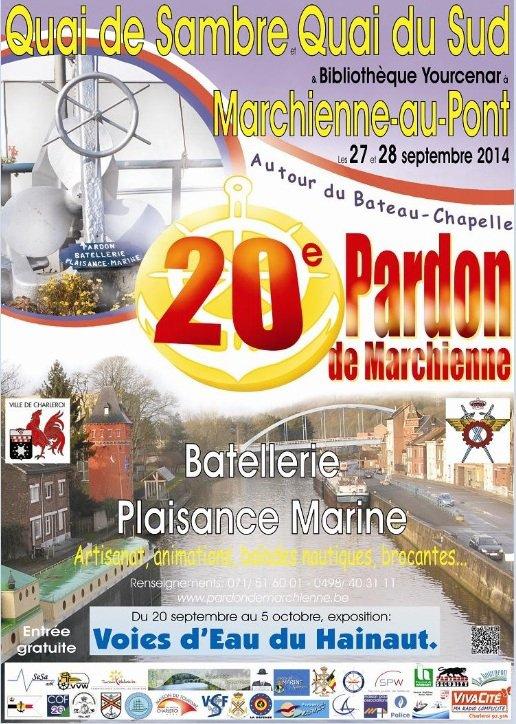 """Expo """"Voies d'Eau du Hainaut""""  dans le cadre du 20è. Pardon de la Batellerie à Marchienne-au-Pont, les 27 et 28 septembre    ;)"""