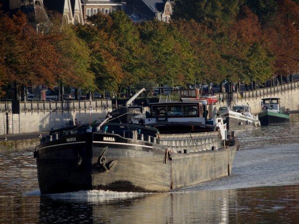 DESCHIETER 17 transporte 576t. de copeaux de bois (enf.2,30 m.) entre Givet (F) et Harnes (F) & CURSOR, 1317t. de charbon (enf. 2,46 m.) entre Rotterdam (NL) et Givet (F)