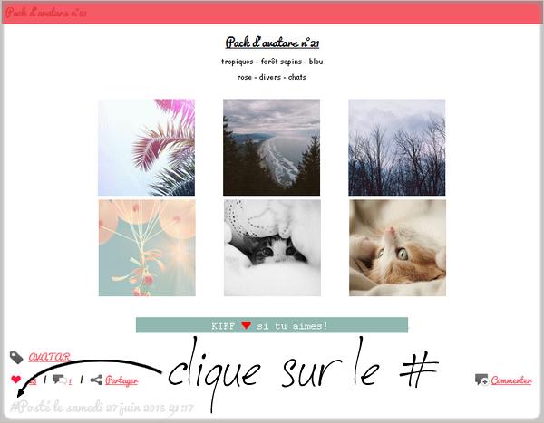 Astuce n°33: faire un lien vers l'article d'un blog