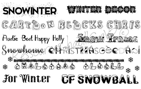 Pack d'ecritures n°23 (special Noel)