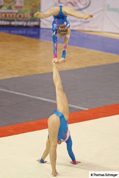 Claire Philouze et Léa Roussel, ambassadrices de la Gymnastique Acrobatique