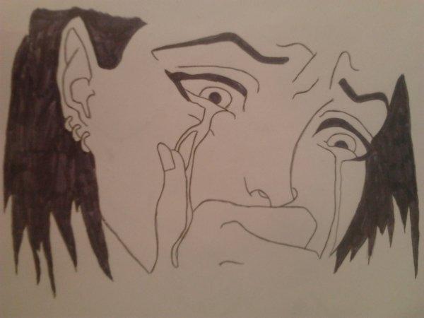 Dessin De Fille Manga Qui Pleure