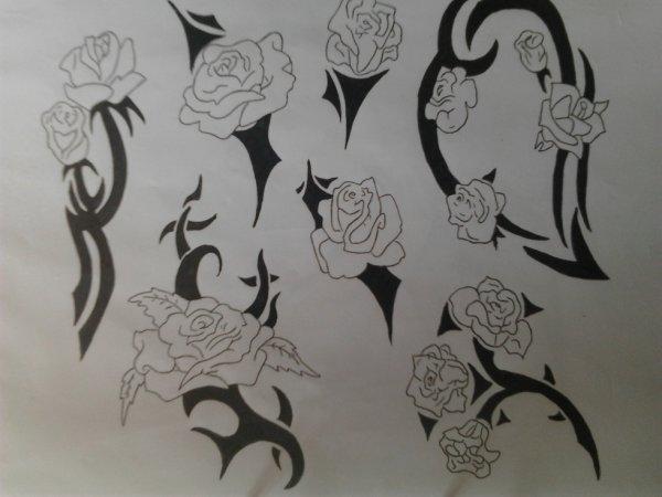 Dessin Tribal Fleur tribal fleur - la boîte à dessin