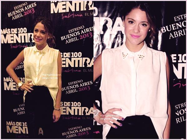 06.04.2013 - Martina en conférence de presse au Chili.