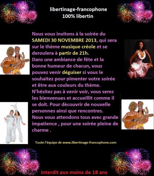 soirer du 30 novembre 2013