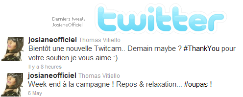 Derniers tweet de Thomas. - @ Twitter. #DemainTwitCAM ? a suivre...