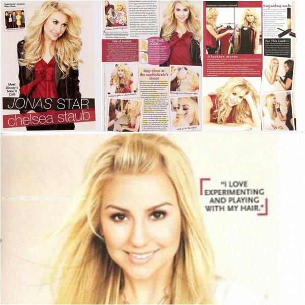 Scans du magasine HairStyle de mai 2009, dont Chelsea fait la couverture.
