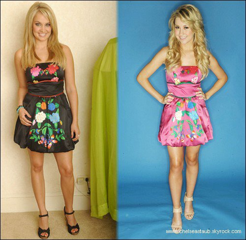 Qui porte-le mieux la robe ? Tiffany Thornton ou Chelsea Staub ?