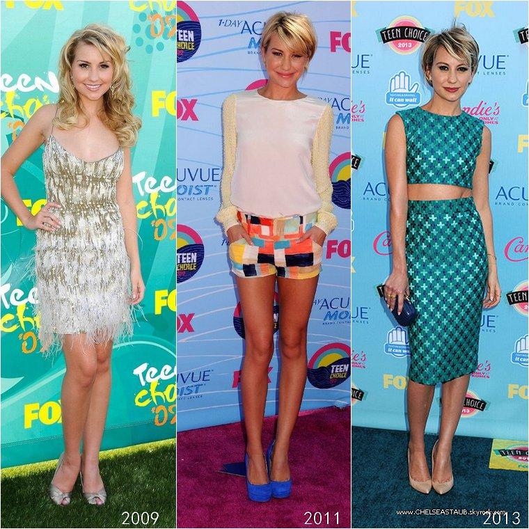 Quelle tenue portée aux Teen Choice Awards par Chelsea entre 2009 et 2013 préfères-tu ?