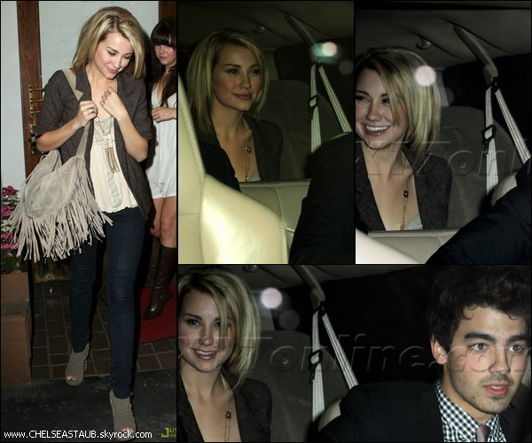 16/01 - CHELSEA & JOE JONAS SORTENT DU CHÂTEAU MARMONT A LOS ANGELES.