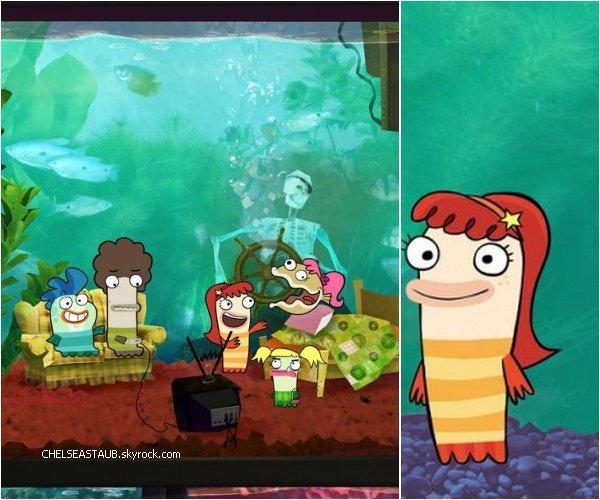 Chelsea  prêtera sa voix à un des personnages du dessin animé Disney « Fish Hooks ». *