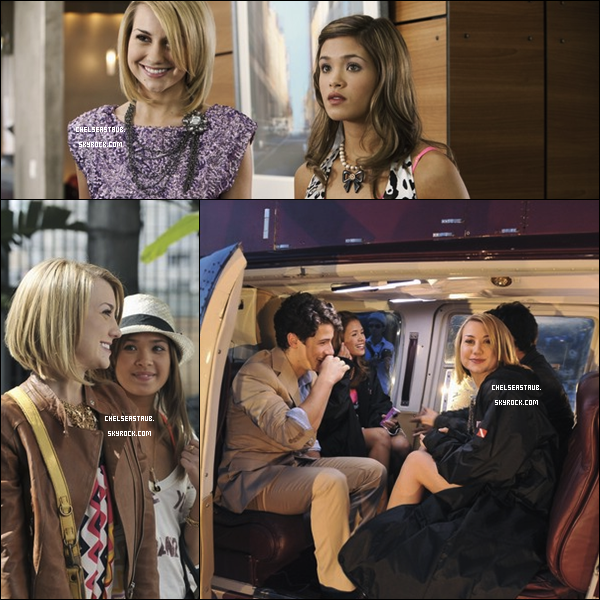 3 stills des premiers épisodes de la nouvelle saison de JONAS, où apparaissent les Jonas Brothers & Nicole.