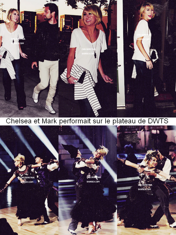 05/04 - CHELSEA & STEPHEN QUITTENT LES STUDIOS DE DANCING WITH THE STARS.