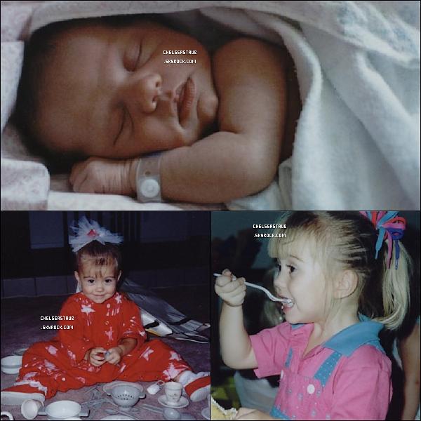[font = arial black][size = 16px]BACK TO CHILDHOOD ! PHOTOS DE CHELSEA BÉBÉ & ENFANT.  Chelsea n'était-elle pas adorable ?
