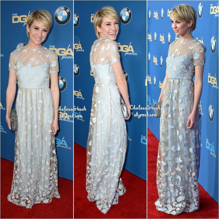 Le 25 janvier, Chelsea et Derek Theler étaient  aux Directors Guild Of America Awards 2014 à Century City (Californie).